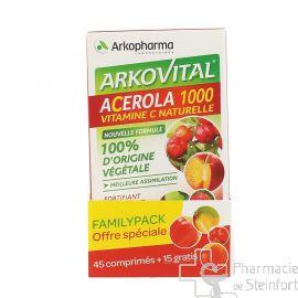 ACEROLA 1000 FAMILYPACK 60 COMPRIMES