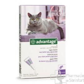 ADVANTAGE SOLUTION ANTI PUCES 80 MG CHAT > 4 KG 4 x0,8 ML