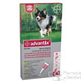 ADVANTIX 250/1250 CHIEN 10-25 KG 4X2,5ML