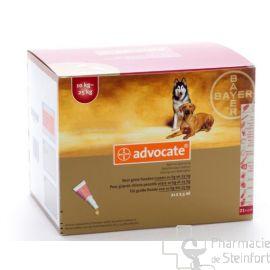 ADVOCATE SPOT ON CHIEN  Grand Chien 10-25 KG 21x 2,5ML