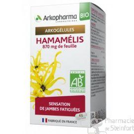 ARKOGELULES HAMAMELIS BIO Jambes lourdes 45 CAPSULES