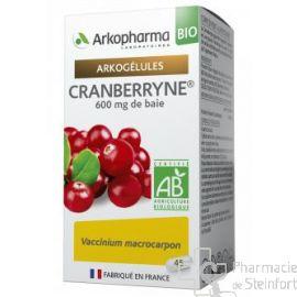 ARKOGELULES CRANBERRYNE BIO Confort urinaire 45 CAPS