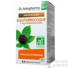 ARKOGELULES ELEUTHEROCOQUE BIO Fatigue Energie 40 GELULES