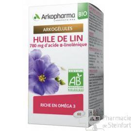 ARKOGELULES HUILE DE LIN BIO Cholesterol 60 CAPSULES