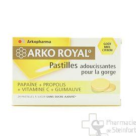 ARKOROYAL PROPOLIS PAPAINE-MIEL CITRON 24 PASTILLES