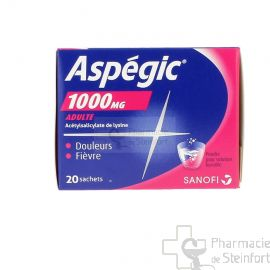 ASPEGIC 1000  MG 20 SACHETS