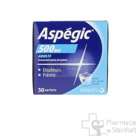 ASPEGIC 500 MG 30 SACHETS