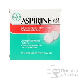 ASPIRINE 500 MG 36 COMPRIMES EFFERVESCENTS