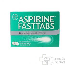 ASPIRINE FASTTAPS 500 MG 40 COMPRIMES