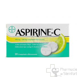 ASPIRINE VIT C 400 MG / 240 MG 20 COMPRIMES EFFERVESCENTS