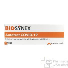 COVID 19 AUTO TEST SEROLOGIQUE BIOSYNEX 1 TEST