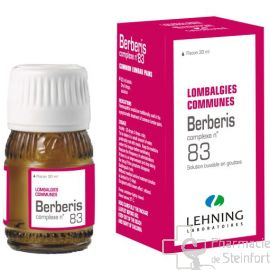BERBERIS lombalgies communes complexe 83 lehning gouttes 30 ML