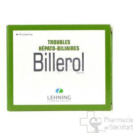 BILLEROL  TROUBLES HEPATO BILIAIRES LEHNING 45 COMPRIMES