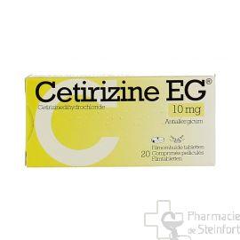 CETIRIZINE EG 10 MG 50 COMPRIMES