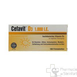 CEFAVIT D3 1000 IE 100 Comprimés