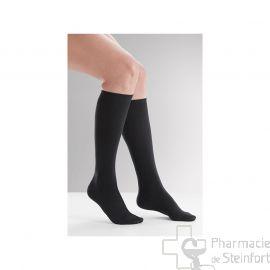 CHAUSSETTES DE CONTENTION (FEMME) VENOFLEX FAST® COTON CLASSE 3  Taille1 Long NOIR