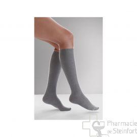 CHAUSSETTES DE CONTENTION (FEMME) VENOFLEX FAST® COTON CLASSE 2 Taille3 Long GRIS CHINE