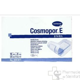 COSMOPOR E PANSEMENT COUVRANT ADHESIF STERILE 10 X 6 CM 25 PANSEMENTS