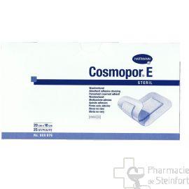 COSMOPOR E PANSEMENT COUVRANT ADHESIF STERILE 20 X 10 CM 25 PANSEMENTS