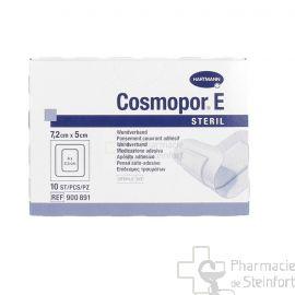 COSMOPOR E PANSEMENT COUVRANT ADHESIF STERILE 7.2 X 5 CM 10 PANSEMENTS
