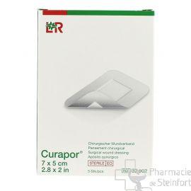 CURAPOR STERILE 7x5 CM  5 PANSEMENTS