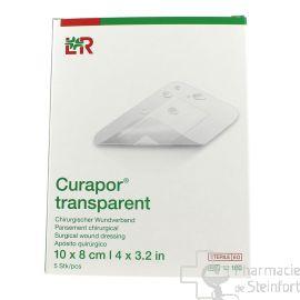 CURAPOR TRANSPARENT STERILE 8x10 CM  5 PANSEMENTS