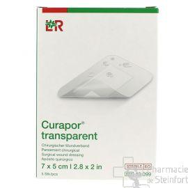 CURAPOR TRANSPARENT STERILE 7x5 CM  5 PANSEMENTS