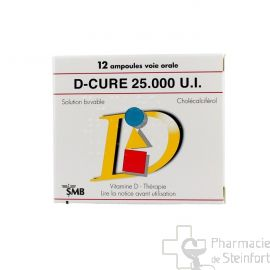 D CURE 25000 U/ML 12 AMPOULES BUVABLES