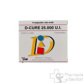 D CURE 25000 U/ML 4 AMPOULES BUVABLES