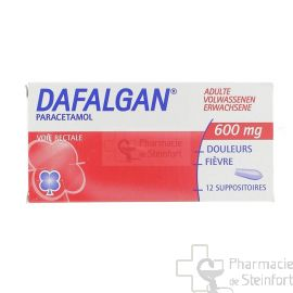 DAFALGAN ADULTE 600 MG 12 SUPPOSITOIRES