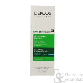 DERCOS SHAMPOOING ANTIPELLICULAIRE Cheveux GRAS NORMAL 200ML
