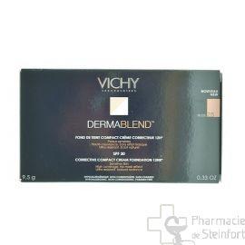 VICHY DERMABLEND FOND DE TEINT COMPACT CREME NUDE 25 10G