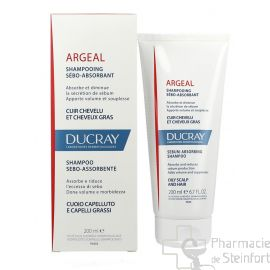 DUCRAY ARGEAL SHAMPOOING traitant sébo-absorbant 200 ML NF