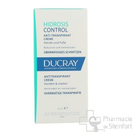 DUCRAY HIDROSIS CONTROL CREME  Mains Pieds 50 ML