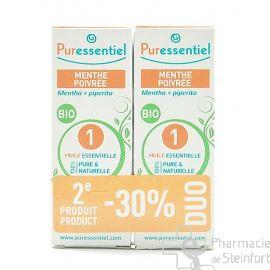 PURESSENTIEL  HUILE ESSENTIELLE DE MENTHE POIVREE DUO 2 X10 ML - 30%