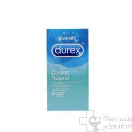 DUREX CLASSIC NATURAL 12 PRESERVATIFS