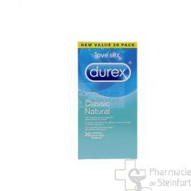 DUREX CLASSIC NATURAL 20 PRESERVATIFS