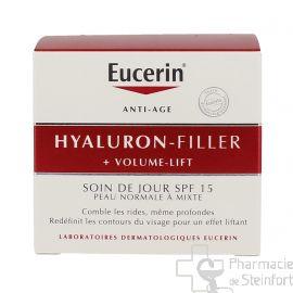 EUCERIN HYALURON-FILLER + VOLUME-LIFT Soin de Jour Peau Normale à Mixte SPF15 50ml