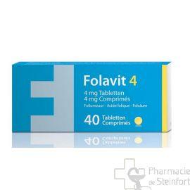 FOLAVIT 4 MG Acide folique 40 COMPRIMES