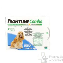 FRONTLINE COMBO SPOT-ON CHIEN M 10-20KG 3 PIPETTES