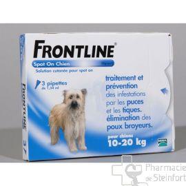FRONTLINE SPOT ON CHIEN DE 10-20 KG  3PIPETTES