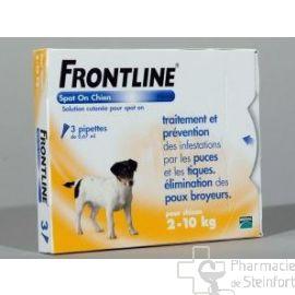 FRONTLINE SPOT ON CHIEN DE 2-10 KG  3PIPETTES