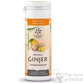 GINJER ORIGINAL XYLITOL Orange Gingembre CHEWING GUM 30 G