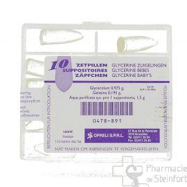 GLYCERINE SOPRELI BEBE 10 SUPPOSITOIRES