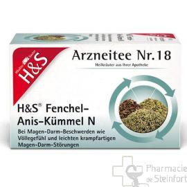 H+S Fenchel-Anis-Kümmel 20 SACHETS N°18