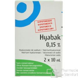 HYABAK NF 0,15% COLLYRE DUO 2x10 ML