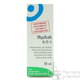 HYABAK NF 0,15% COLLYRE 10 ML