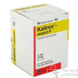KALINOR RETARD P 600 MG 50 CAPSULES