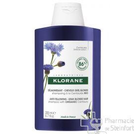 KLORANE SHAMPOING CENTAUREE  Cheveux gris blonds BIO 200 ML NF