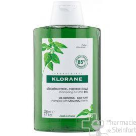 KLORANE SHAMPOING ORTIE cheveux gras BIO 200ML